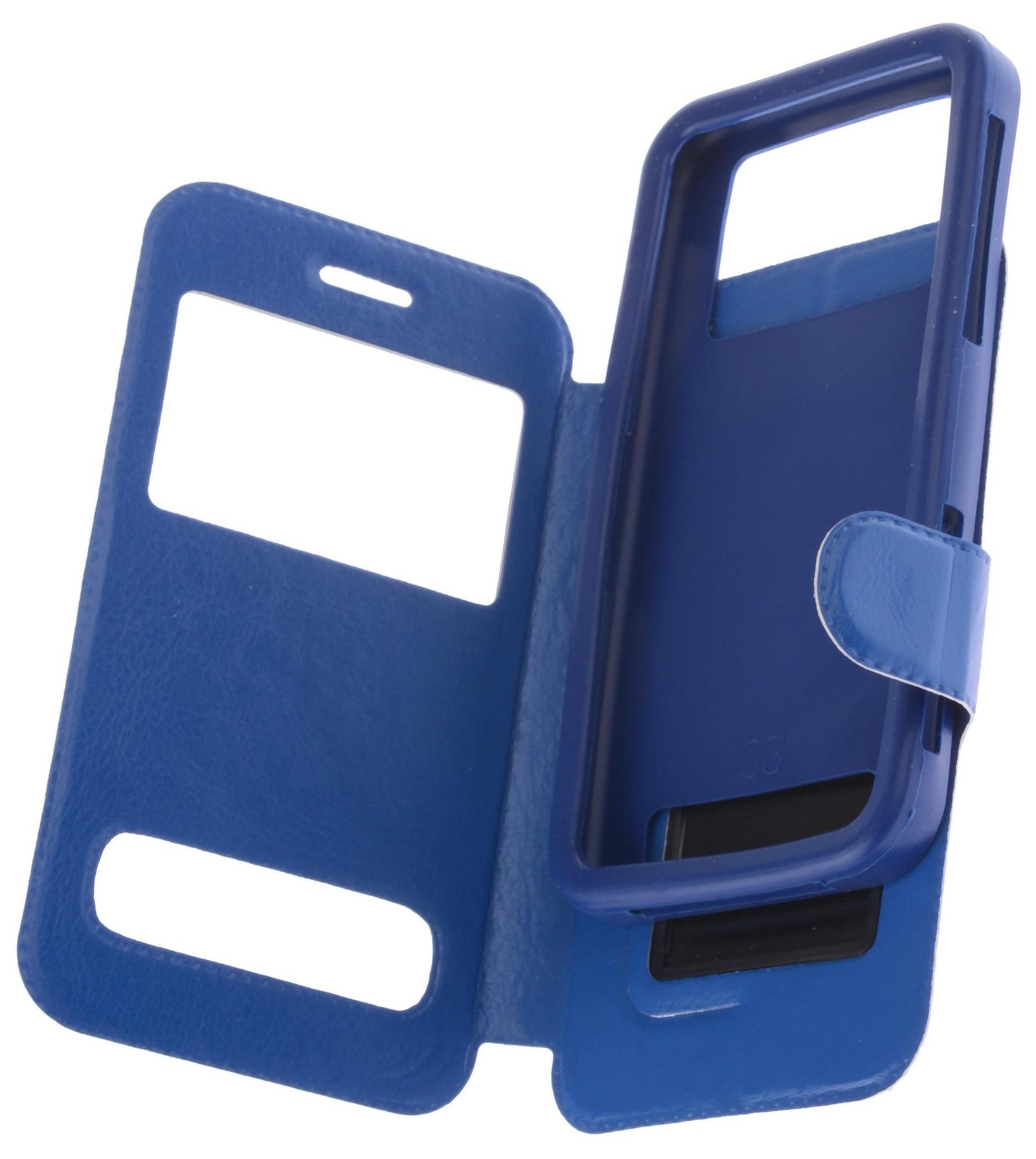 цена на Чехол для сотового телефона skinBOX Silicone Sticker 5, 4660041408461, синий
