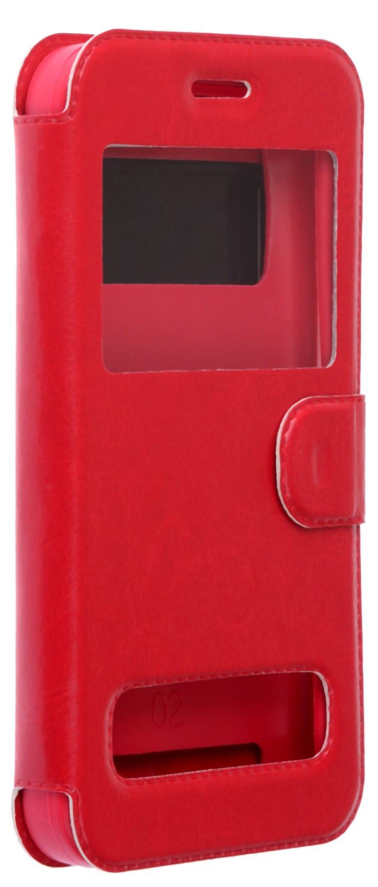 цена на Чехол для сотового телефона skinBOX Silicone Sticker 5, 4660041408454, красный
