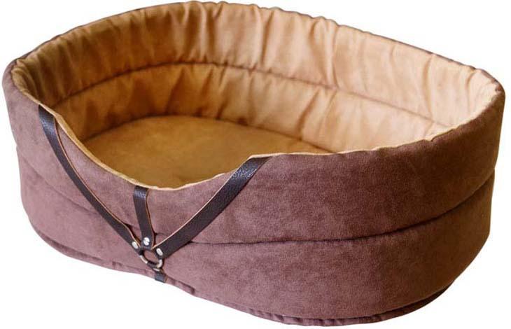 Лежак для животных ZOOexpress Дерби №3, 75303, коричневый, 49 х 33 х 17 см цена