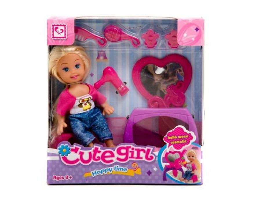 Мини-кукла No Name K080187 с аксессуарами, 1006444 мини кукла no name k080189 с мотоциклом и аксессуарами 1006440 розовый