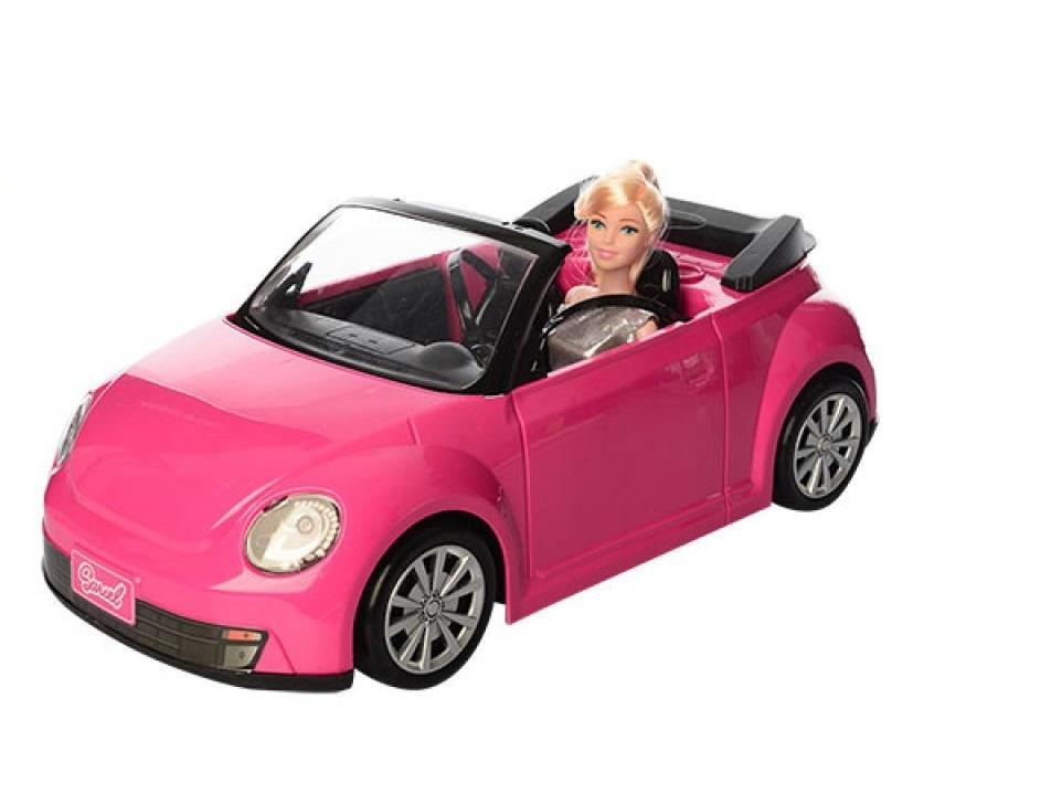 Игровой набор с куклой No Name 6633 с машиной , 1127225 розовый игровой набор klein автосервис bosch с машиной для сборки