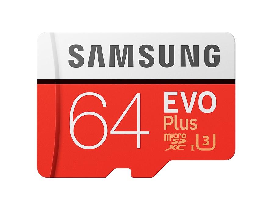 Карта памяти Samsung MicroSD 64GB Class 10 Evo Plus U1 U3 (R/W 100/60 MB/s) + SD адаптер самсунг nx1100 карта памяти