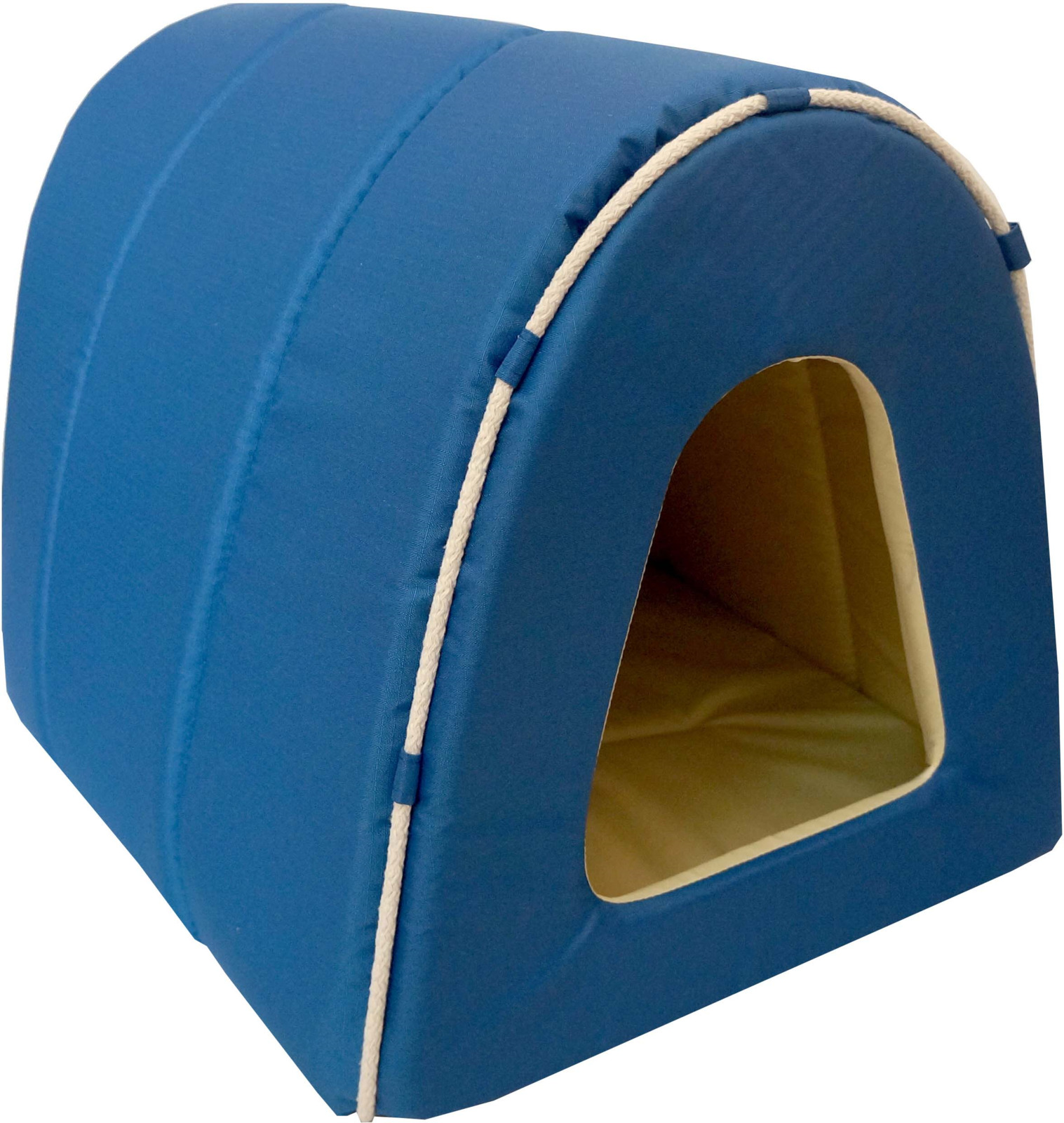 Домик-тоннель для животных ZOOexpress Морская №2, 76422ДОМ, синий, бежевый, 50 х 42 х 35 см76422ДОМДом-Туннель Морская. Эксклюзивная коллекция премиум-класса Морская, выполненная в оригинальном авторском дизайне, с использованием декоративных элементов, изготовлена из современной износостойкой ткани Оксфорд - высокотехнологичного водонепроницаемого материала, коэффициент водоотталкивания составляет 95%. Также из данной ткани выполнена подкладка изделий, что облегчает уход за продукцией и продлевает срок ее эксплуатации. Ткань Оксфорд - этот материал, в основе которого лежат волокна полиэстера или нейлона, обладает высочайшими показателями прочности и долговечности. При этом «Оксфорд» стойко реагирует не только на физические воздействия (истирание и т.д.), но и на воздействия агрессивных химических веществ и реагентов, температур и прямых солнечных лучей. Изнаночная сторона обработана специальным составом, отталкивающим воду. Обивка: оксфорд (водоотталкивающая ткань). Цвет: синий/бежевый. Производитель: ОООЗооэкспресс, Россия.