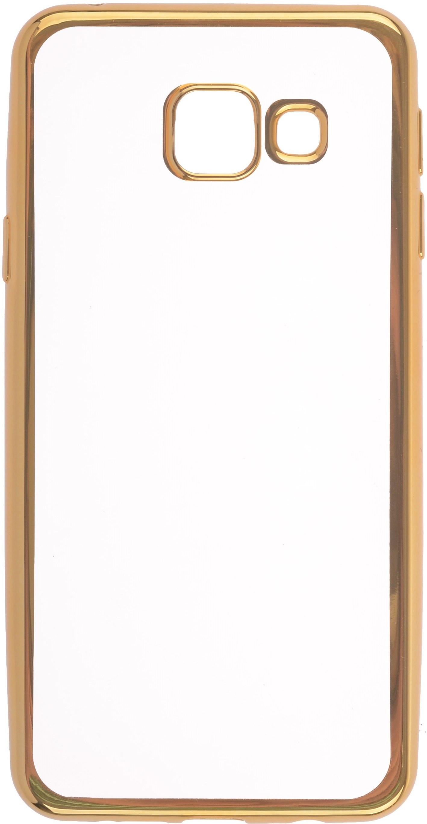 Чехол для сотового телефона skinBOX Silicone chrome border, 4660041407921, золотой skinbox 4people slim silicone чехол накладка для xiaomi redmi 4a transparent