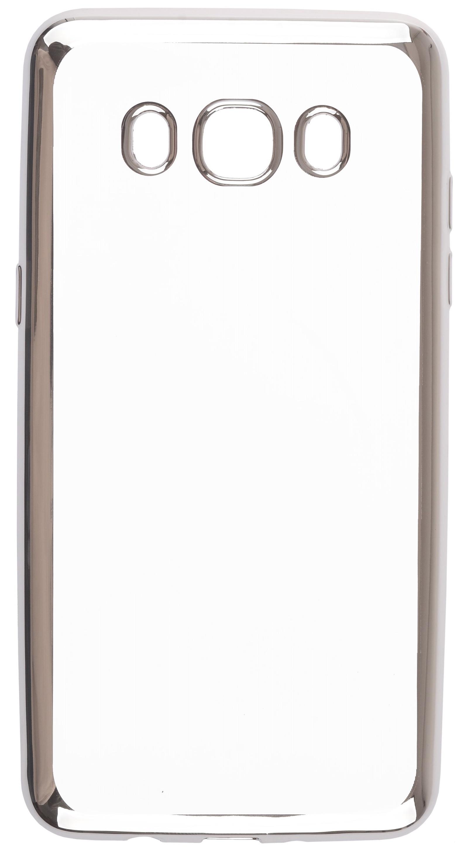 Чехол для сотового телефона skinBOX Silicone chrome border, 4660041407914, серебристый чехол для сотового телефона skinbox silicone chrome border 4630042528697 серебристый