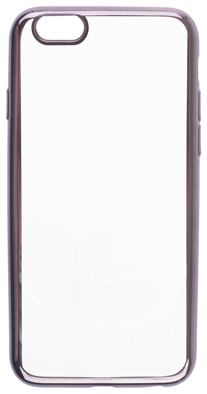 Чехол для сотового телефона skinBOX Silicone chrome border, 4660041407891, серебристый чехол для сотового телефона skinbox silicone chrome border 4630042524514 серебристый