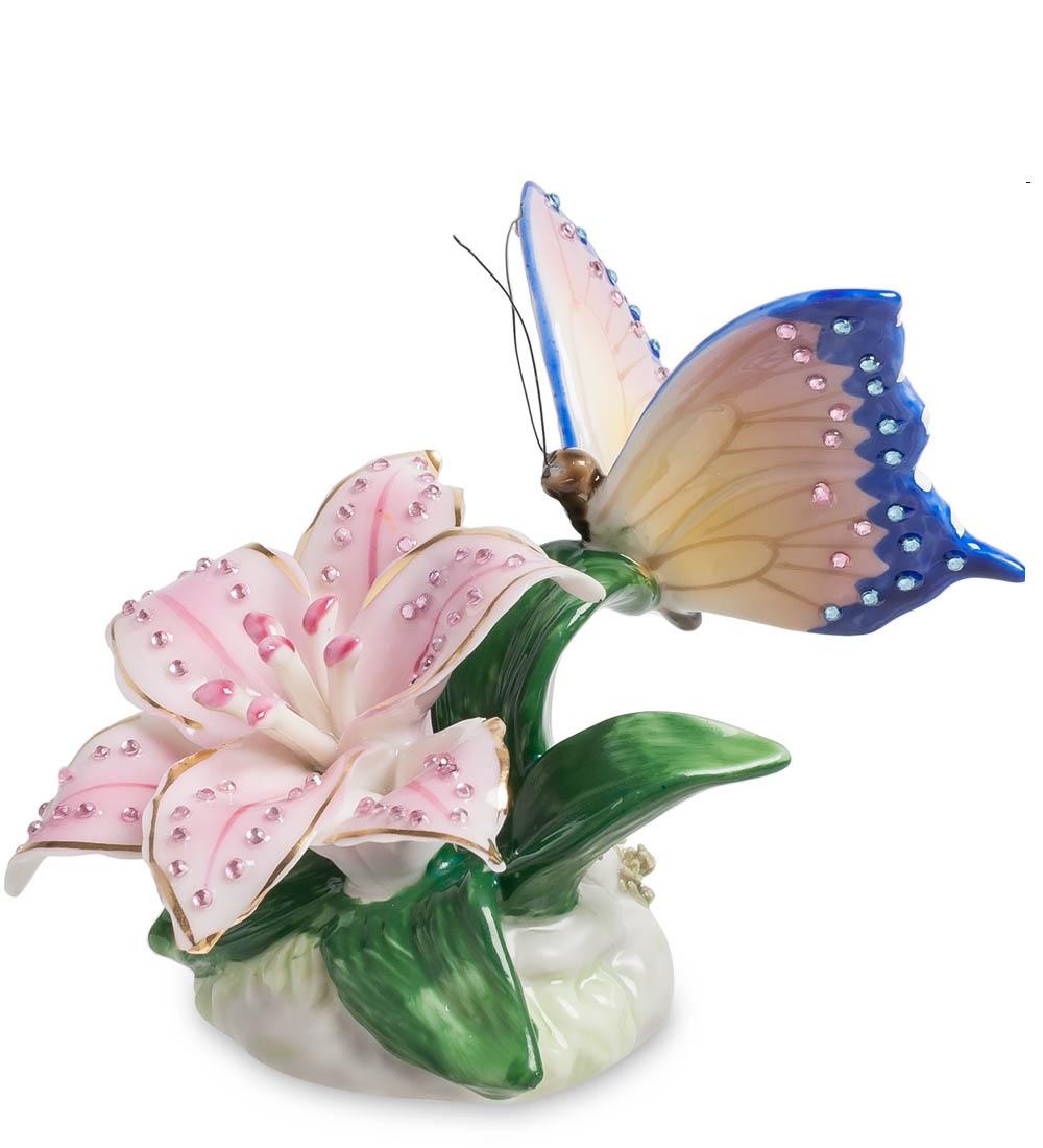 Фигурка декоративная Pavone Бабочка на лилии CMS-35/ 6, 104645 цены онлайн
