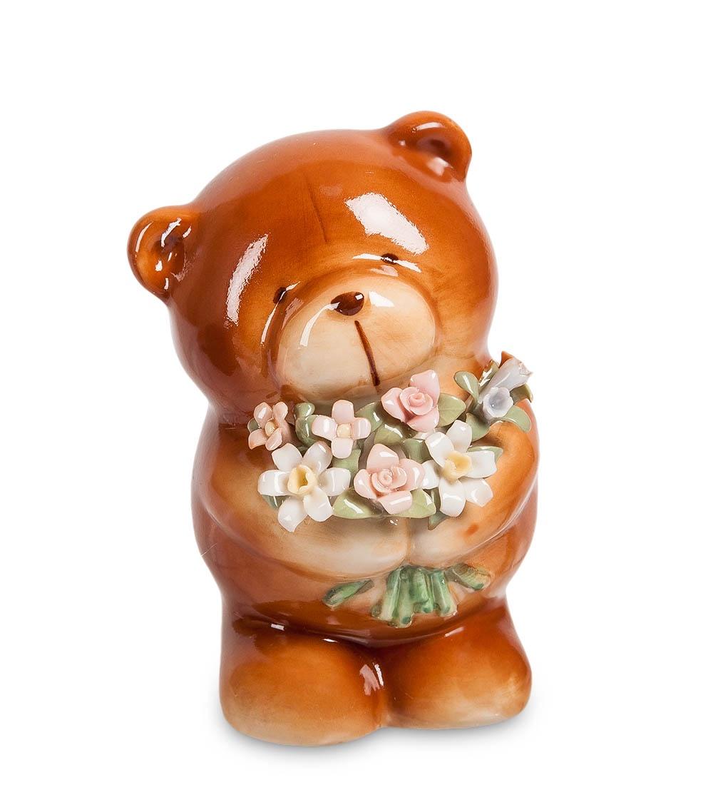 Фигурка декоративная Pavone Мишка с букетом CMS-60/ 2, 106092