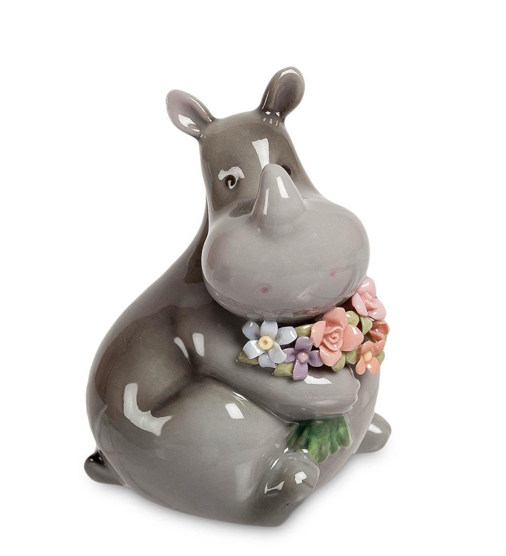 Фигурка декоративная Pavone Носорог с букетом CMS-60/ 3, 106093