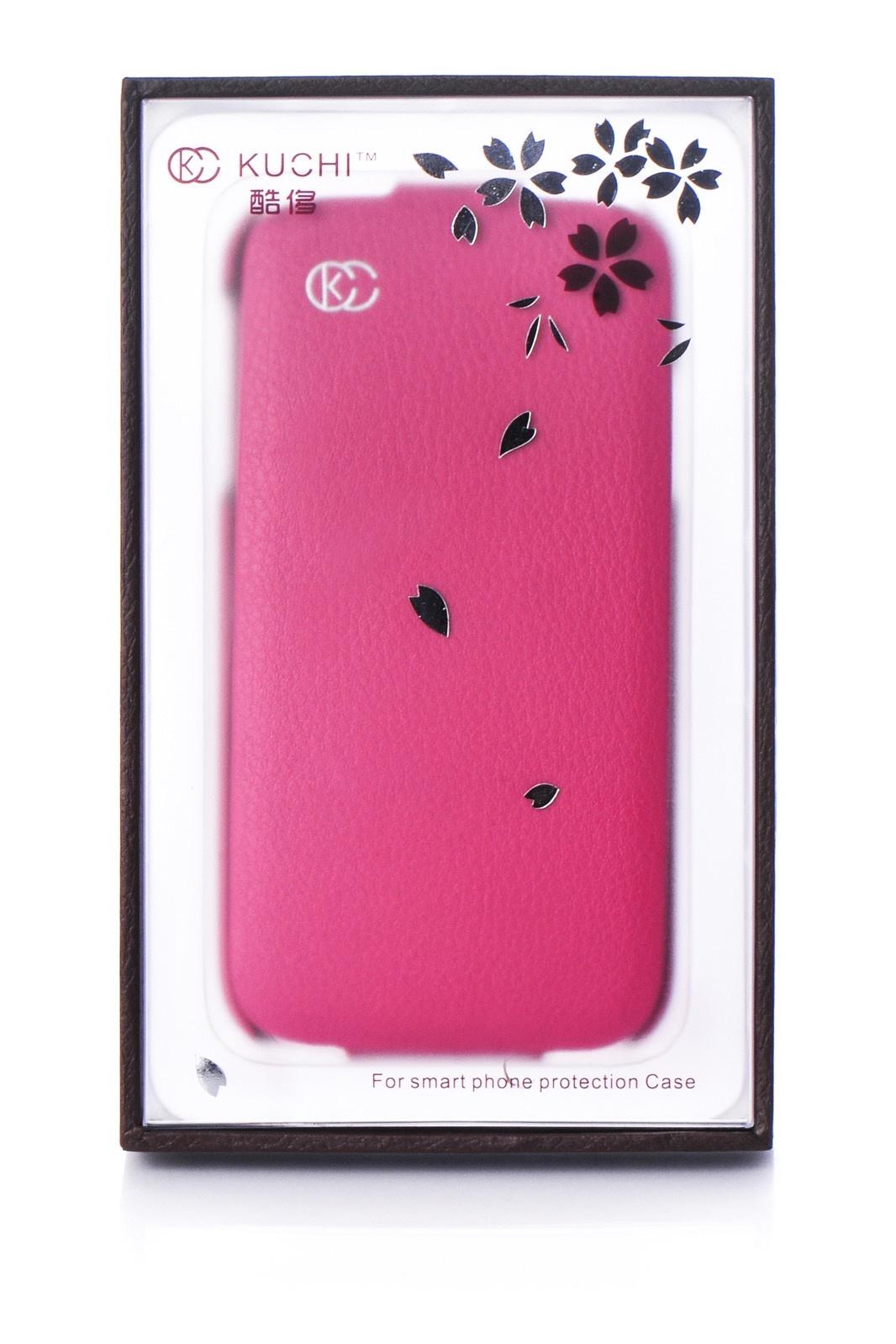Чехол для сотового телефона Kuchi книжка экокожа 450010 для Samsung S4, розовый blue flower design кожа pu откидной крышки кошелек карты держатель чехол для samsung j5prime