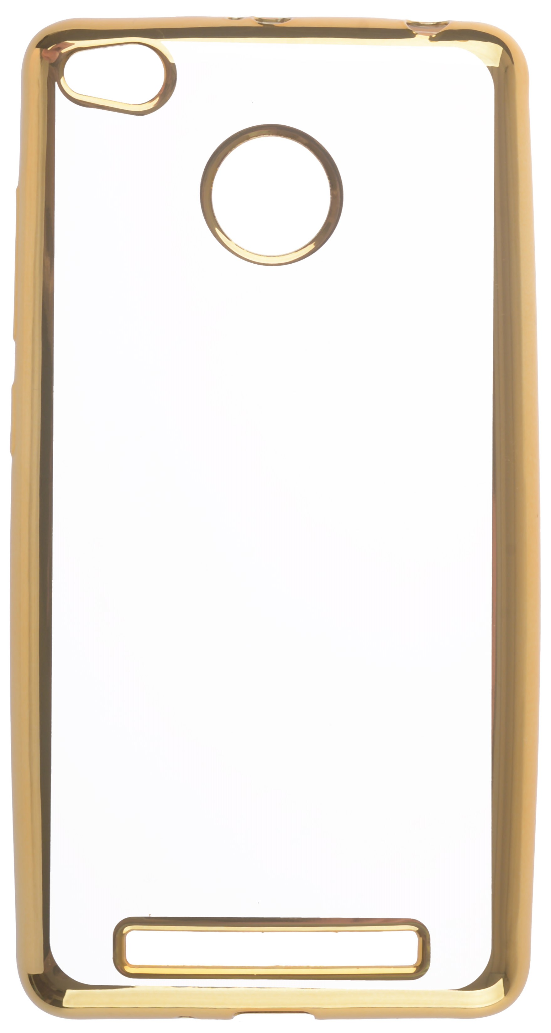 Чехол для сотового телефона skinBOX Silicone chrome border, 4660041407846, золотой skinbox 4people slim silicone чехол накладка для xiaomi redmi 4a transparent