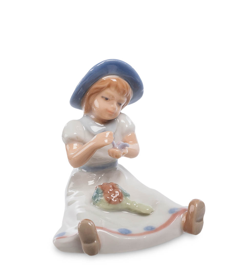 Фигурка декоративная Pavone Девочка с цветами CMS-20/39, 106051