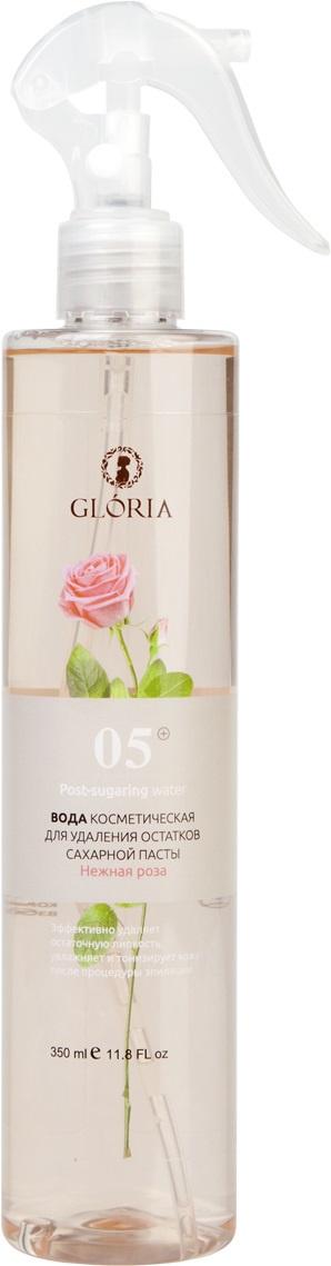Вода косметическая GLORIA SUGARING & SPA Нежная роза вода косметическая для удаления остатков сахарной пасты охлаждающий эффект 350 мл gloria