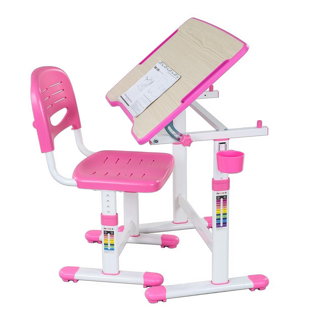 Набор детской мебели FunDesk Piccolino II Pink, розовый, белый