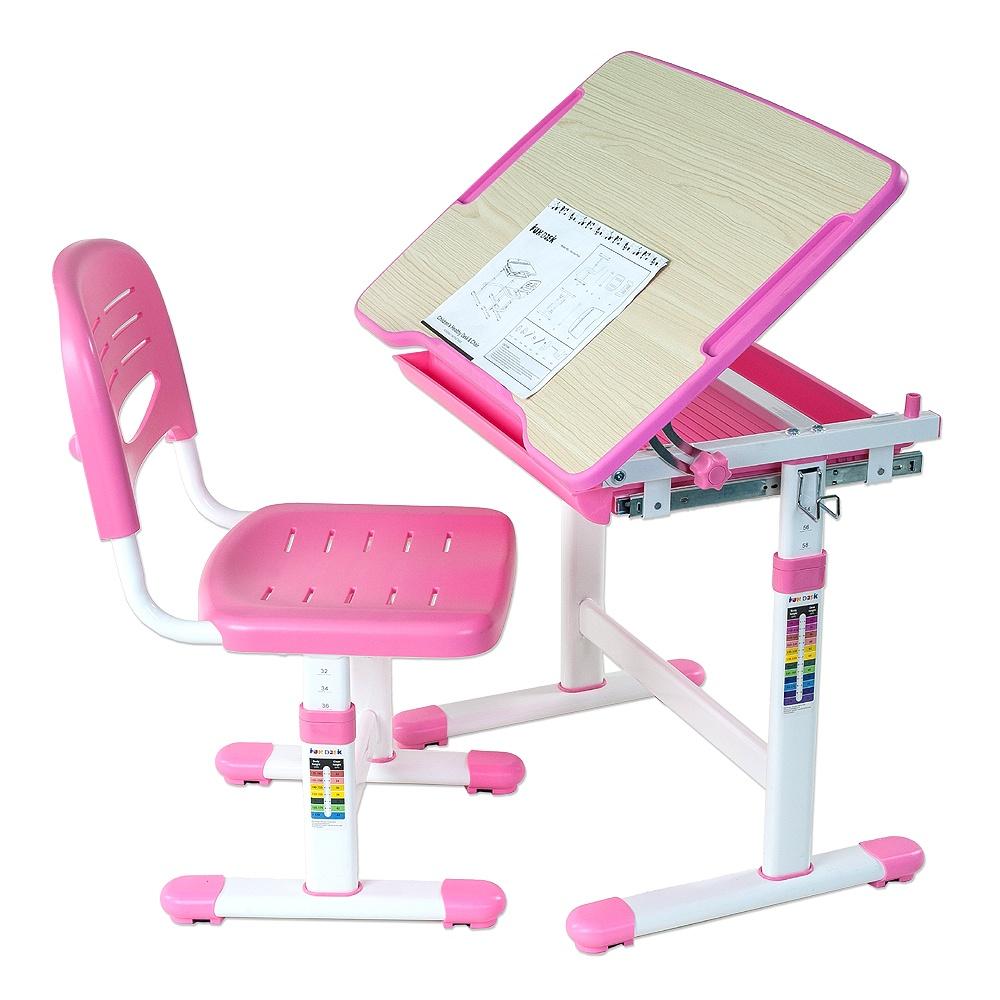 Набор детской мебели FunDesk Piccolino Pink, розовый, белый