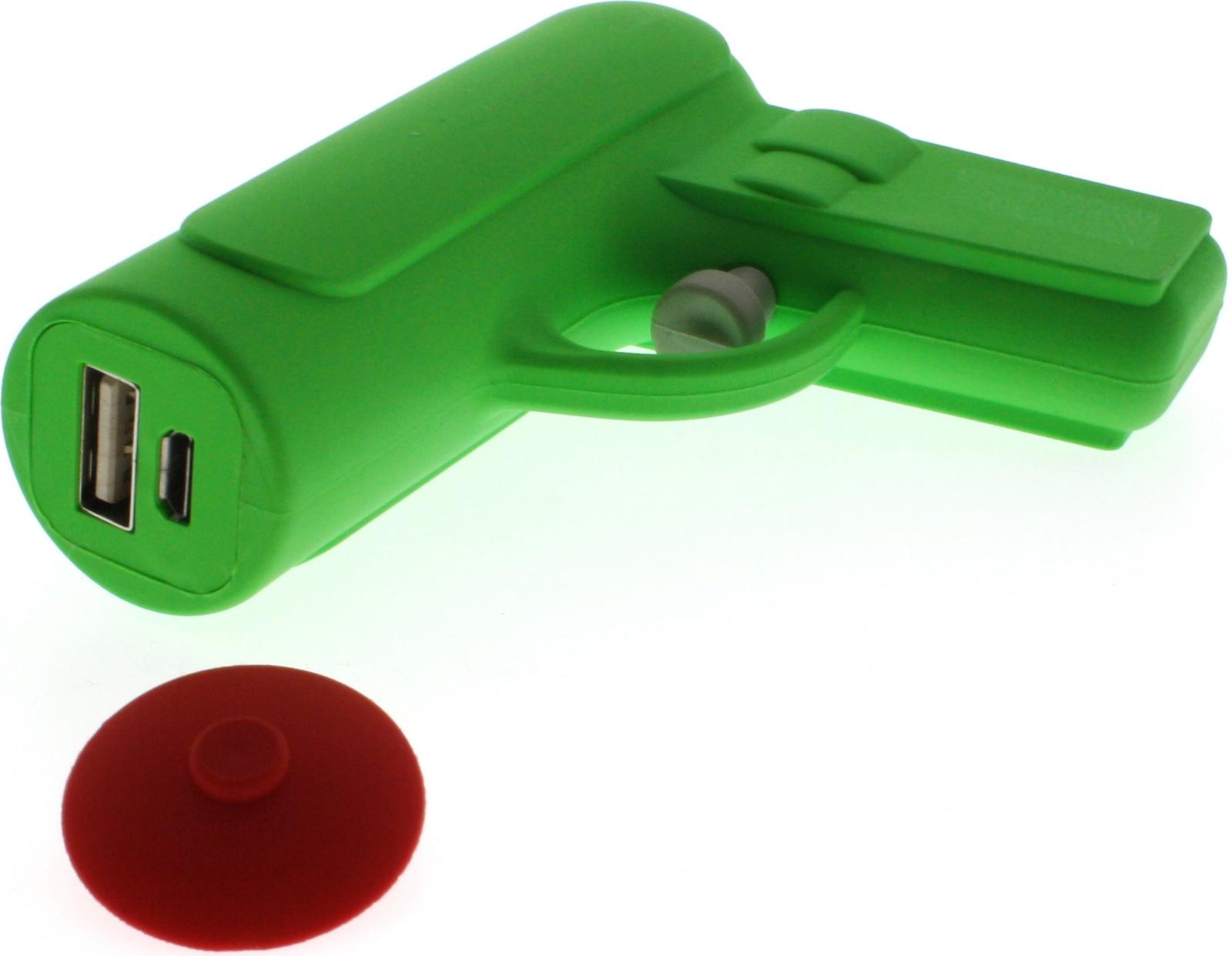 Фото - Внешний аккумулятор Mojipower Water Gun, MP001WG, зеленый внешний аккумулятор для