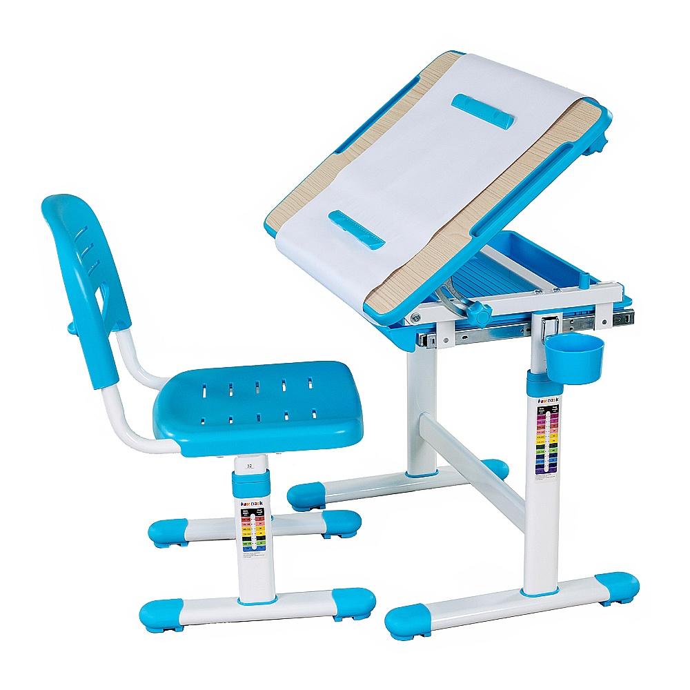 Набор детской мебели FunDesk Bambino Blue, голубой, белый цена