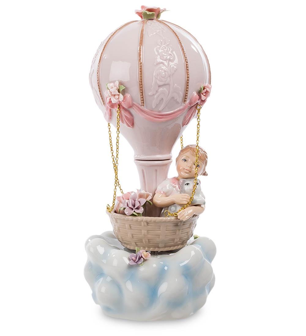 Фигурка декоративная Pavone Девочка на воздушном шар CMS-27/18, 106058 cms 27 18 фигурка муз девочка на воздушном шаре pavone