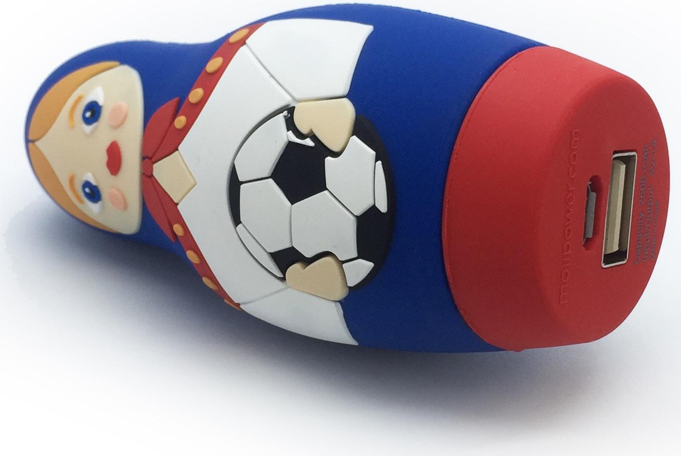 Фото - Внешний аккумулятор Mojipower Matreshka, MP-001-MA, синий, красный, белый mojipower аккумулятор mojipower heart