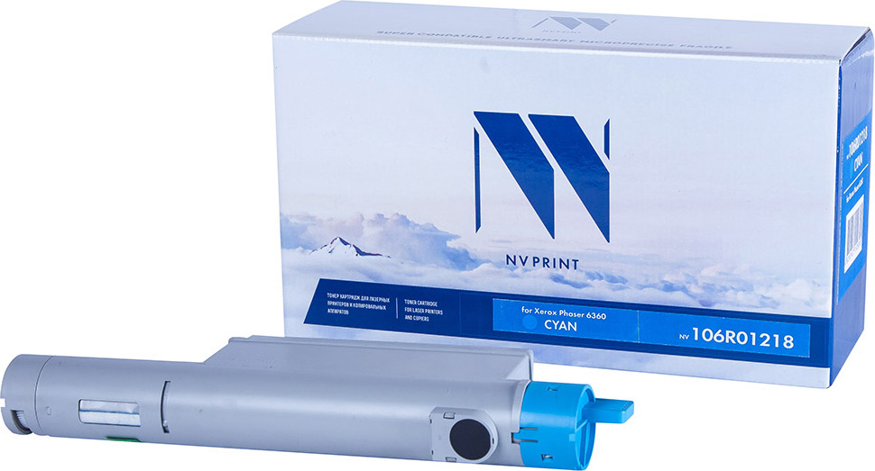 Картридж NV Print NV-106R01218, голубой, для лазерного принтера