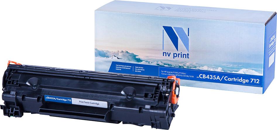 Тонер-картридж NV Print CB435A/712, черный, для лазерного принтера, совместимый