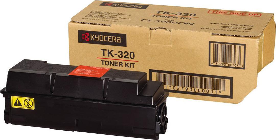 Картридж Kyocera TK-320, черный, для лазерного принтера тонер kyocera tk 330 для fs 4000dn чёрный 20000 страниц