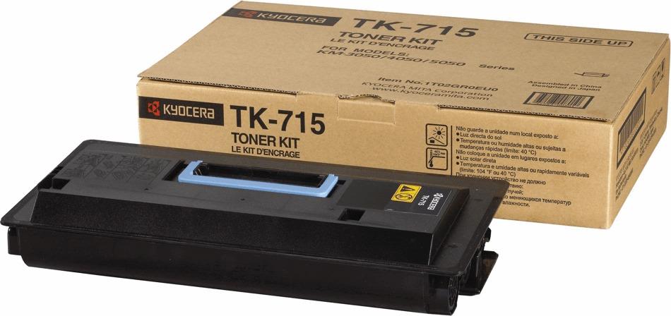 Картридж Kyocera TK-715, черный, для лазерного принтера все цены