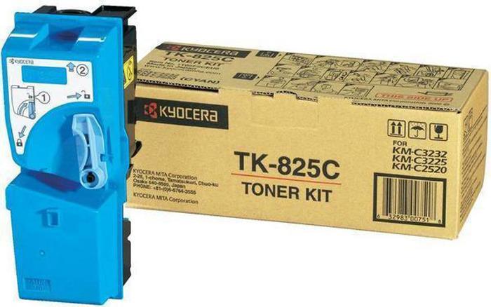 Картридж Kyocera TK-825C, голубой, для лазерного принтера