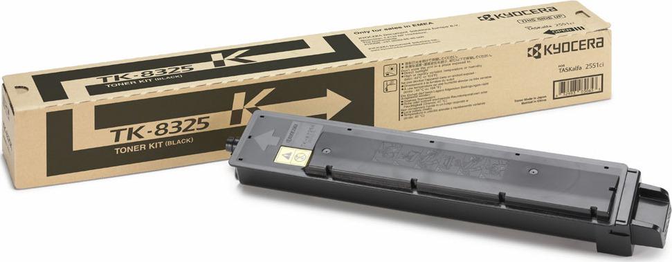 Картридж Kyocera TK-8325K, черный, для лазерного принтера картридж kyocera tk 8325k black для taskalfa 2551ci 18000стр
