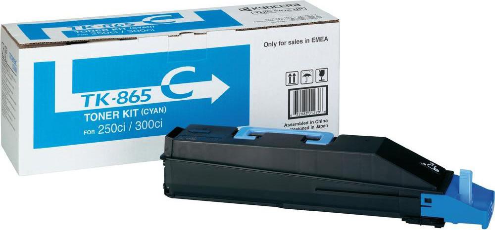 Картридж Kyocera TK-865C, голубой, для лазерного принтера