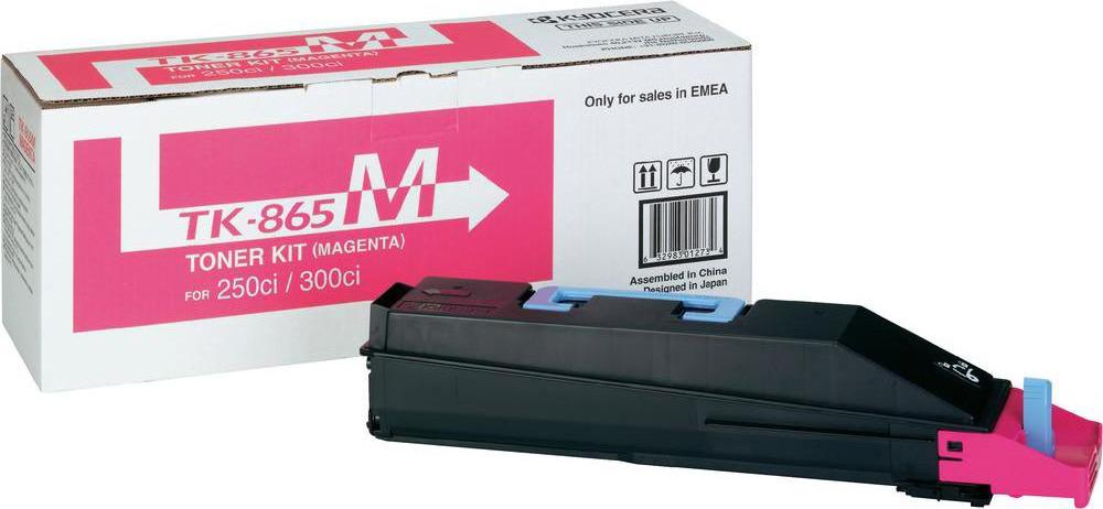 Картридж Kyocera TK-865M, пурпурный, для лазерного принтера kyocera tk 8315m 6 000 стр magenta для taskalfa 2550ci
