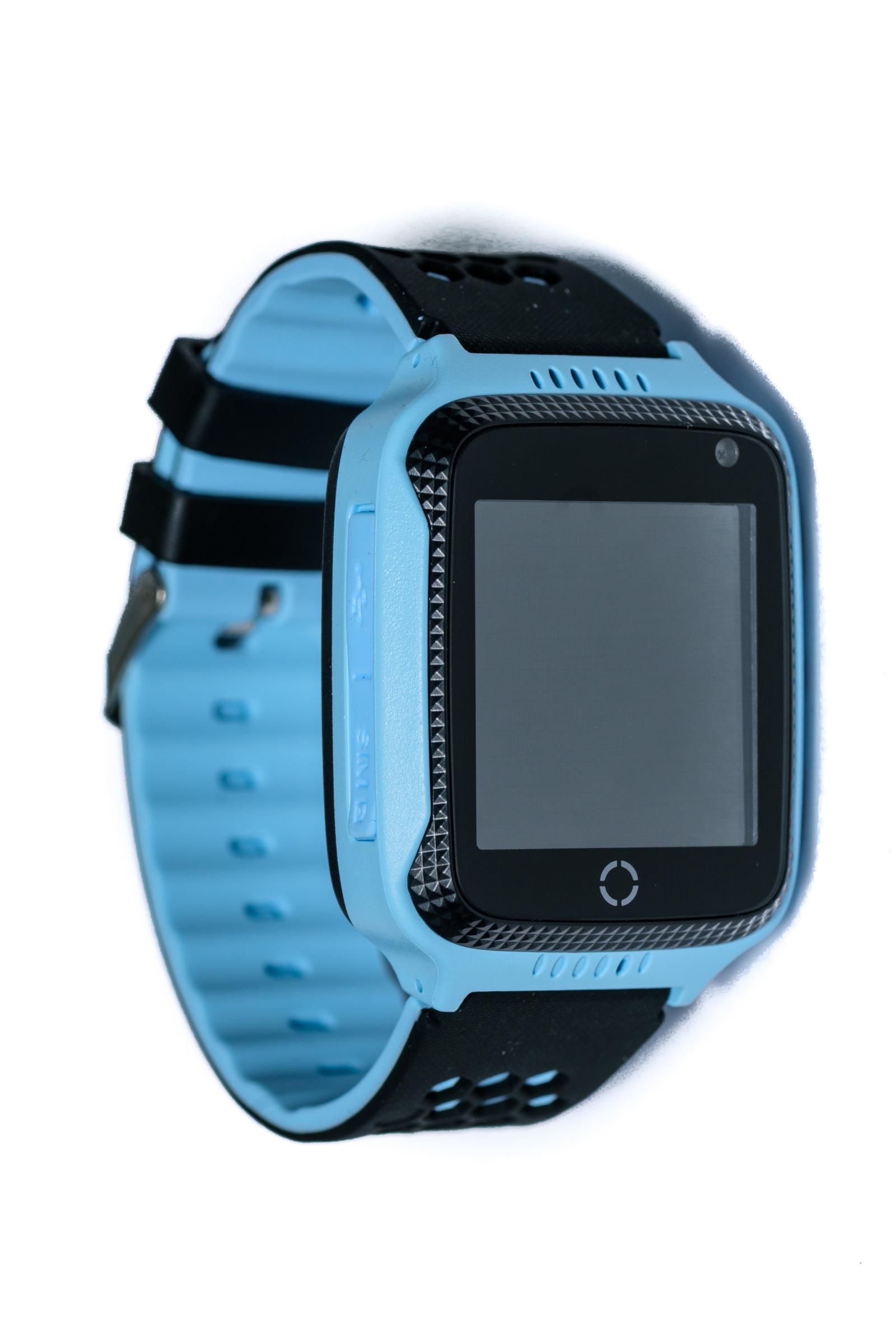 Умные часы для детей Indee D26C, голубой, черный настройка gps на htc