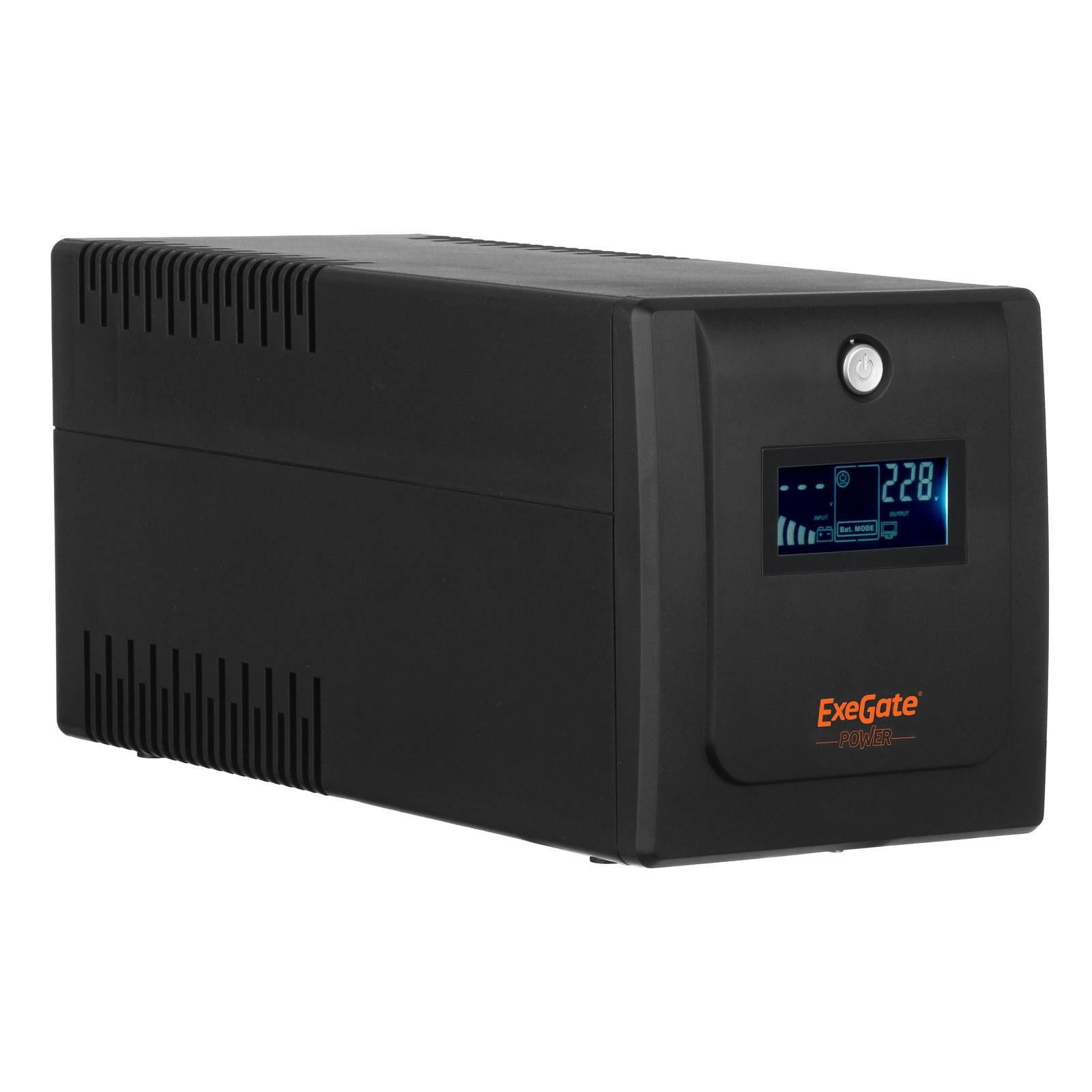 ИБП Exegate Power Smart ULB-1500 LCD <1500VA, Black, 4 евророзетки, USB>