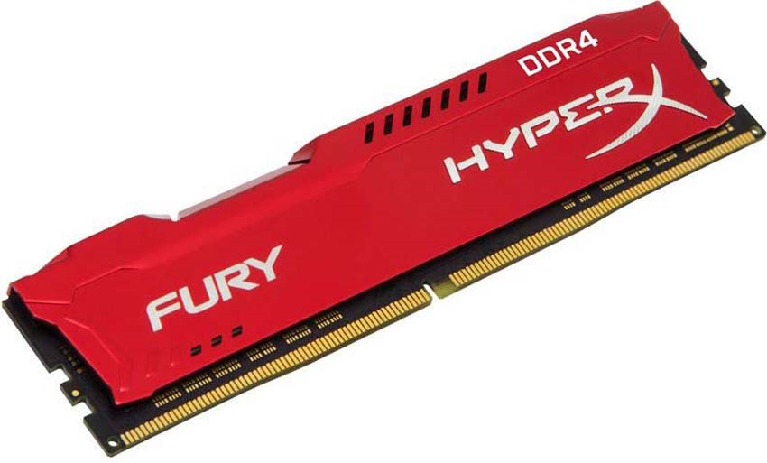 Модуль оперативной памяти Kingston HyperX Fury DDR4 DIMM, 16GB, 2400MHz, CL15, HX424C15FR/16, red