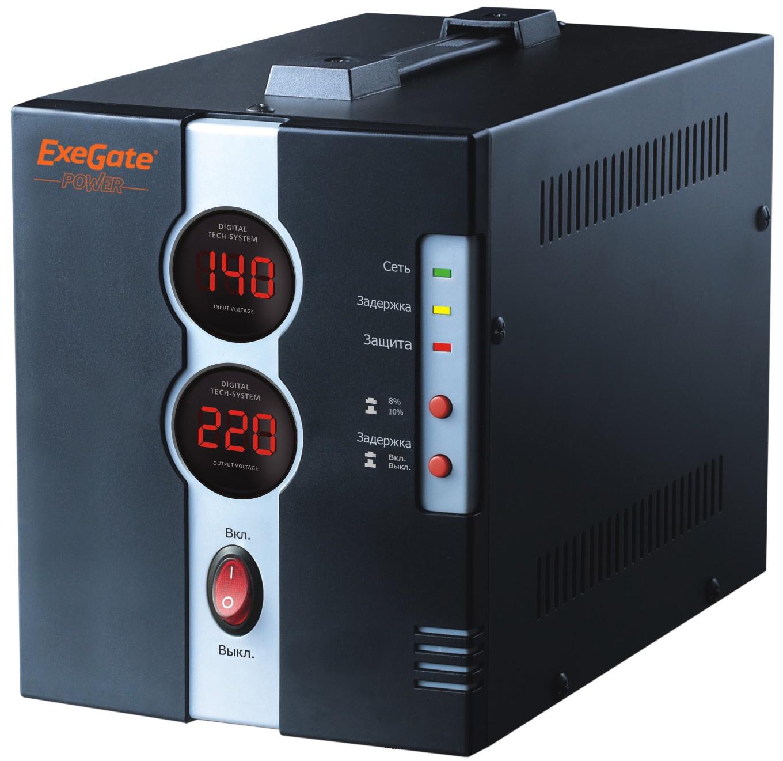 Стабилизатор Exegate Power DCR-500D (диапазон 160, 260В, 1 розетка ) Exegate