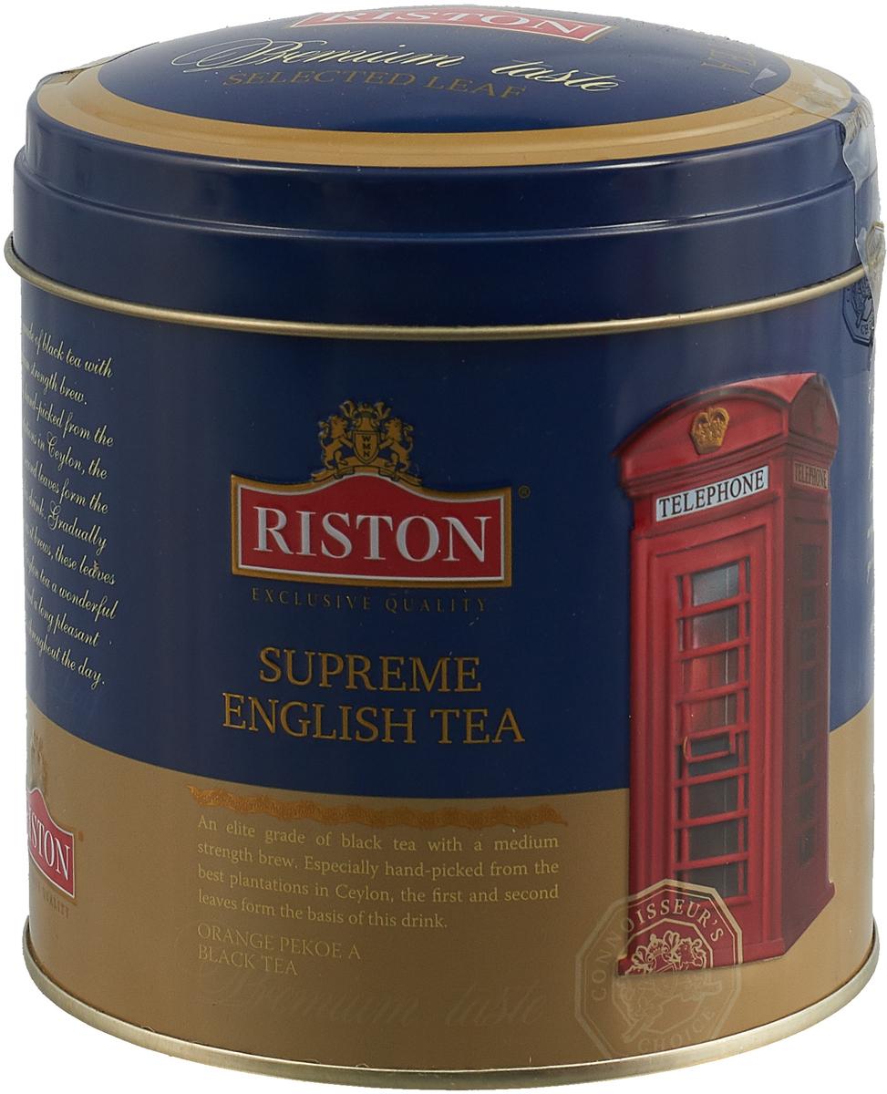 Фото - Английский чай Riston OPA Суприм, 4792156013923, черный, листовой, 100 г riston элитный английский черный листовой чай 200 г