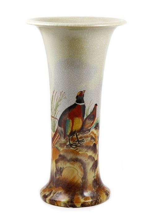 Ваза антикварная Антик Хобби Ваза с Фазаном, ОС6113, бежевый, коричнево-красный, коричневый, светло-коричневый, темно-коричневый, светло-зеленый