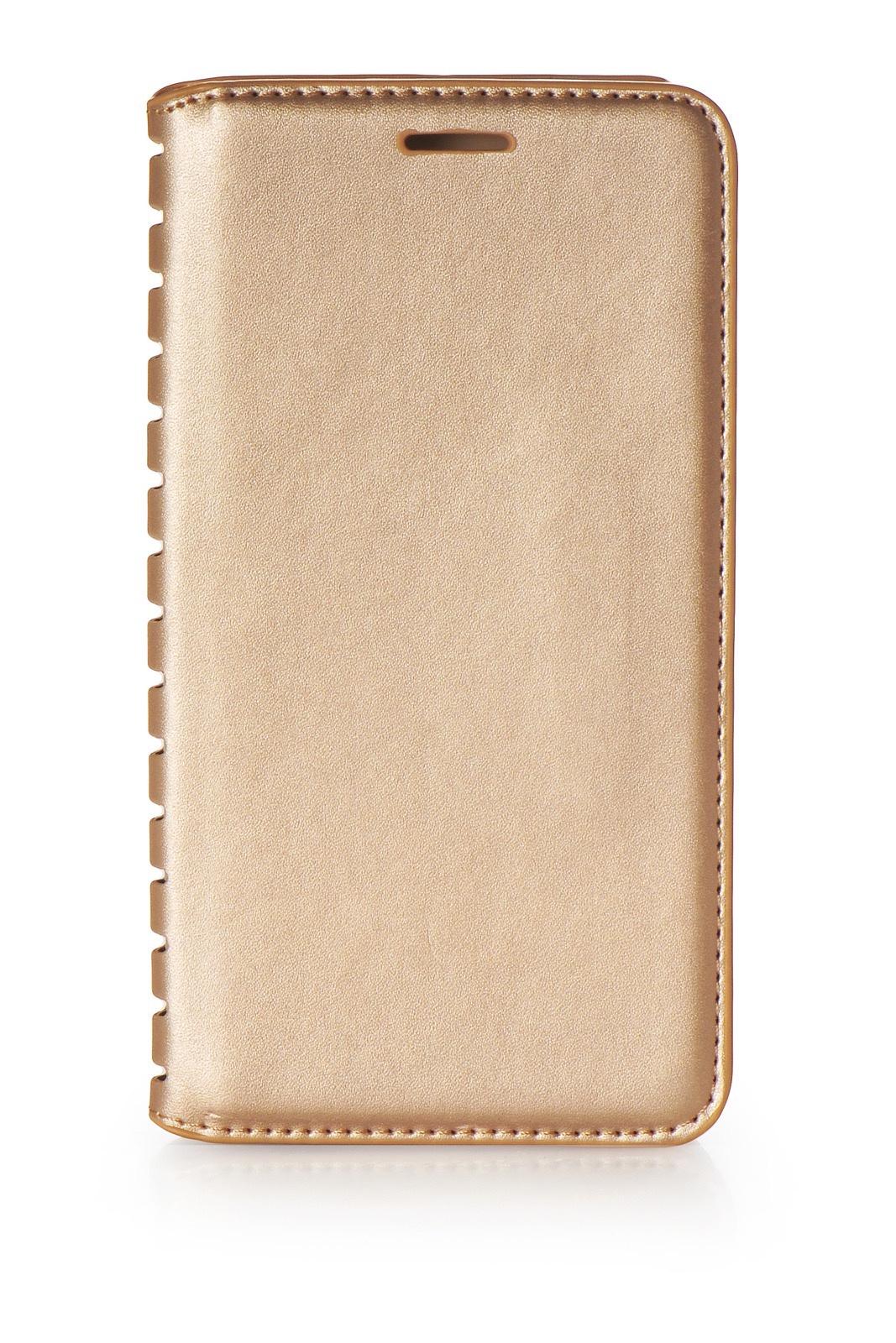 Чехол для сотового телефона Gurdini книжка Premium с силиконом на магните 906536 для Samsung Galaxy J4 (2018), золотой