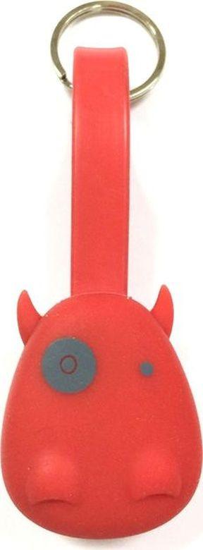 Брелок-шнур Munkees Дракон, для зарядки смартфона, цвет: красный