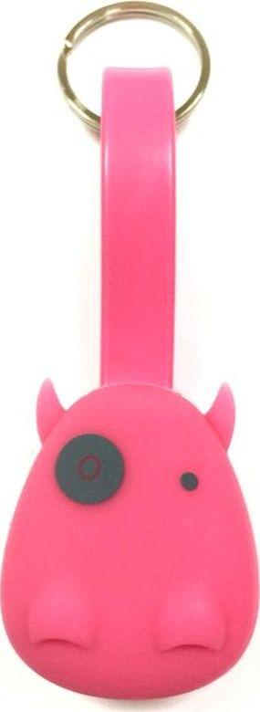 Брелок-шнур Munkees Дракон, для зарядки смартфона, цвет: розовый