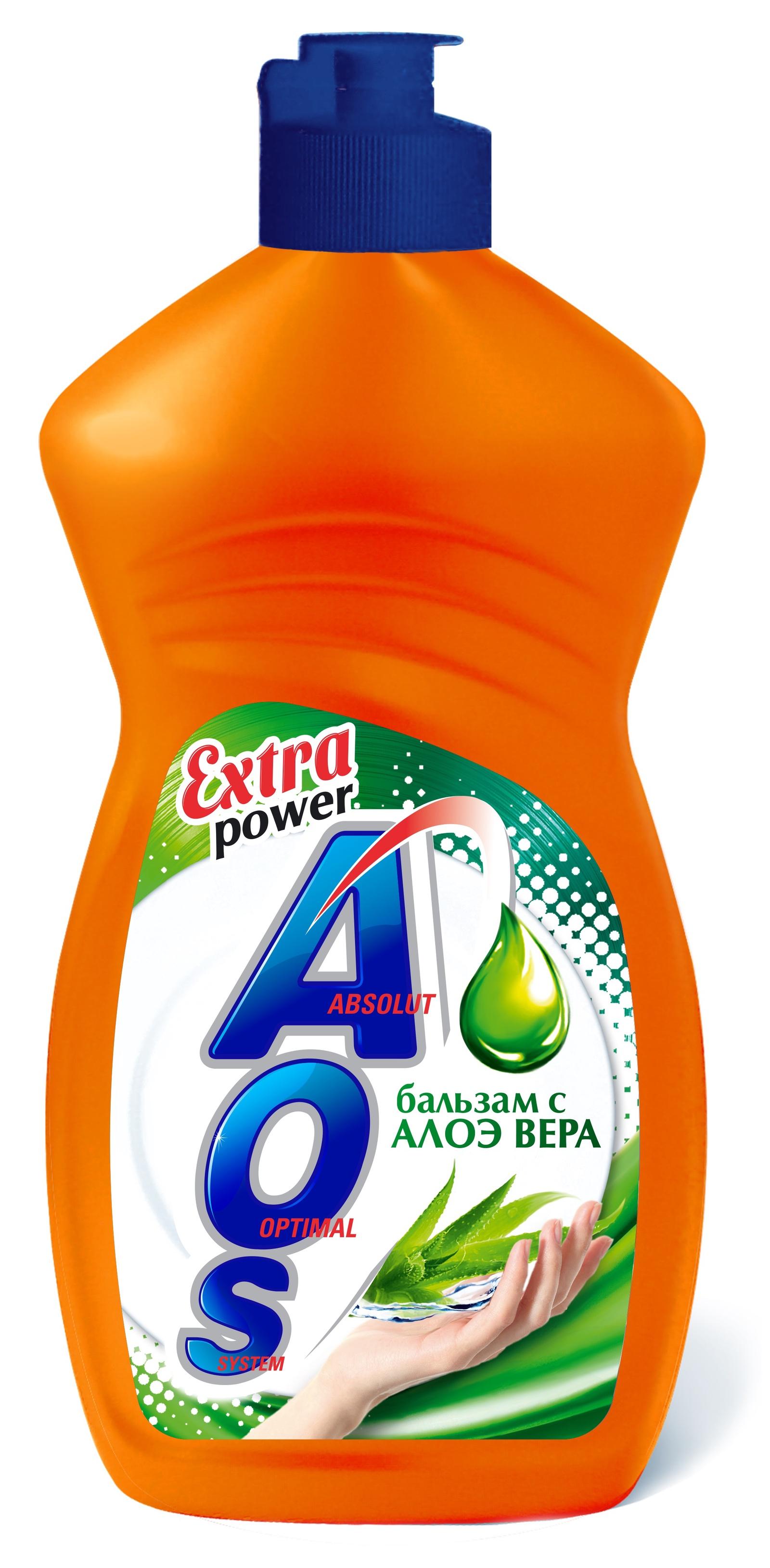 Средство для мытья посуды AOS Бальзам с Алоэ Вера, 1112-3 средство для мытья посуды aos 450 мл бальзам 2в1 в ассорт