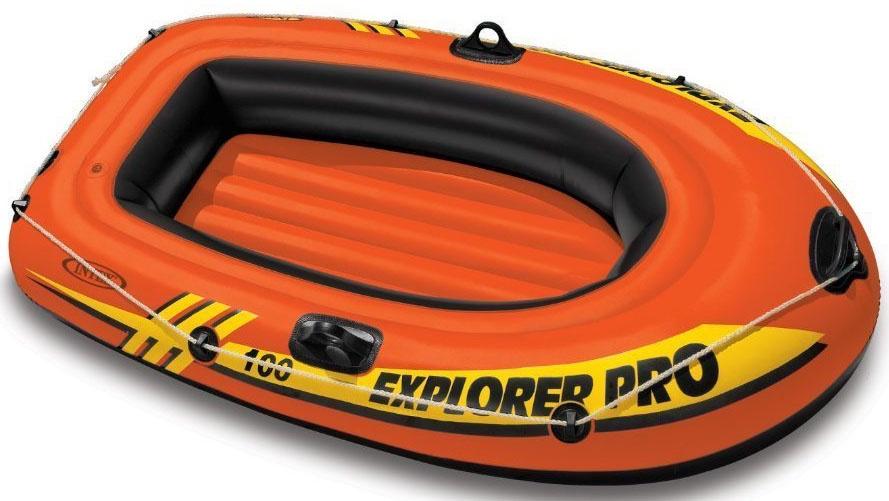 Надувная лодка INTEX EXPLORER PRO 100, 58355, оранжевый