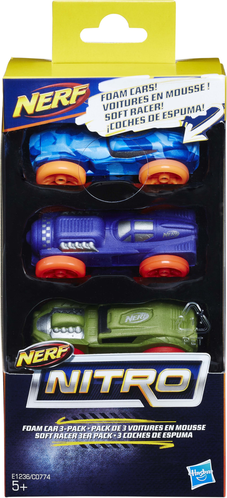 "Набор машинок Nerf ""Nitro"", C0774EU41_Е1235, 3 шт"