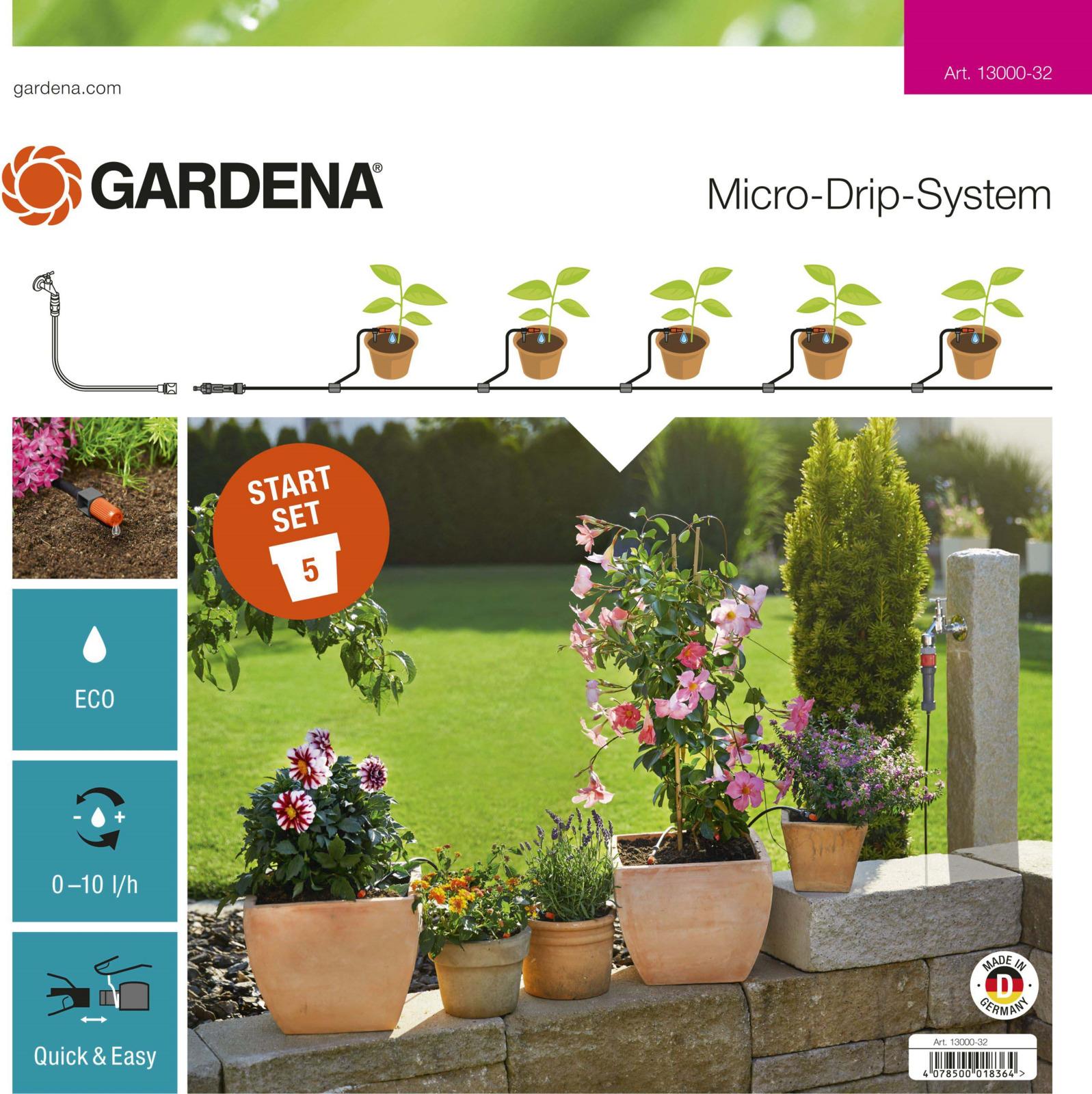 цена на Комплект для террас Gardena, 13000-34.000.00, базовый, серый, оранжевый, черный