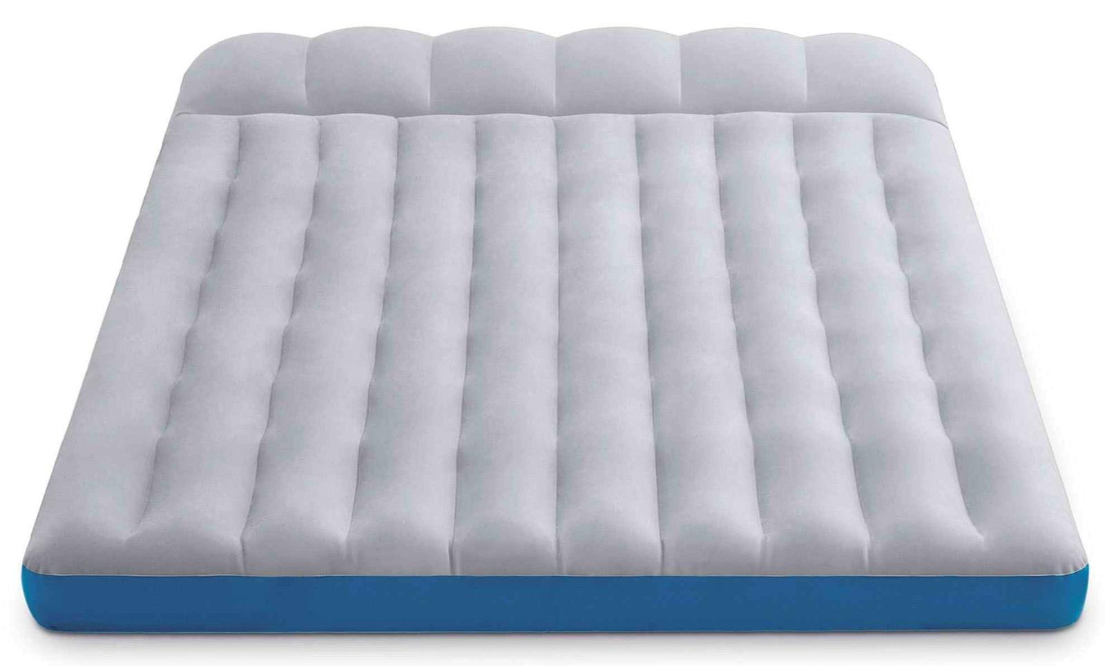 Матрас надувной INTEX CAMPING MAT, 67999, белый, голубой