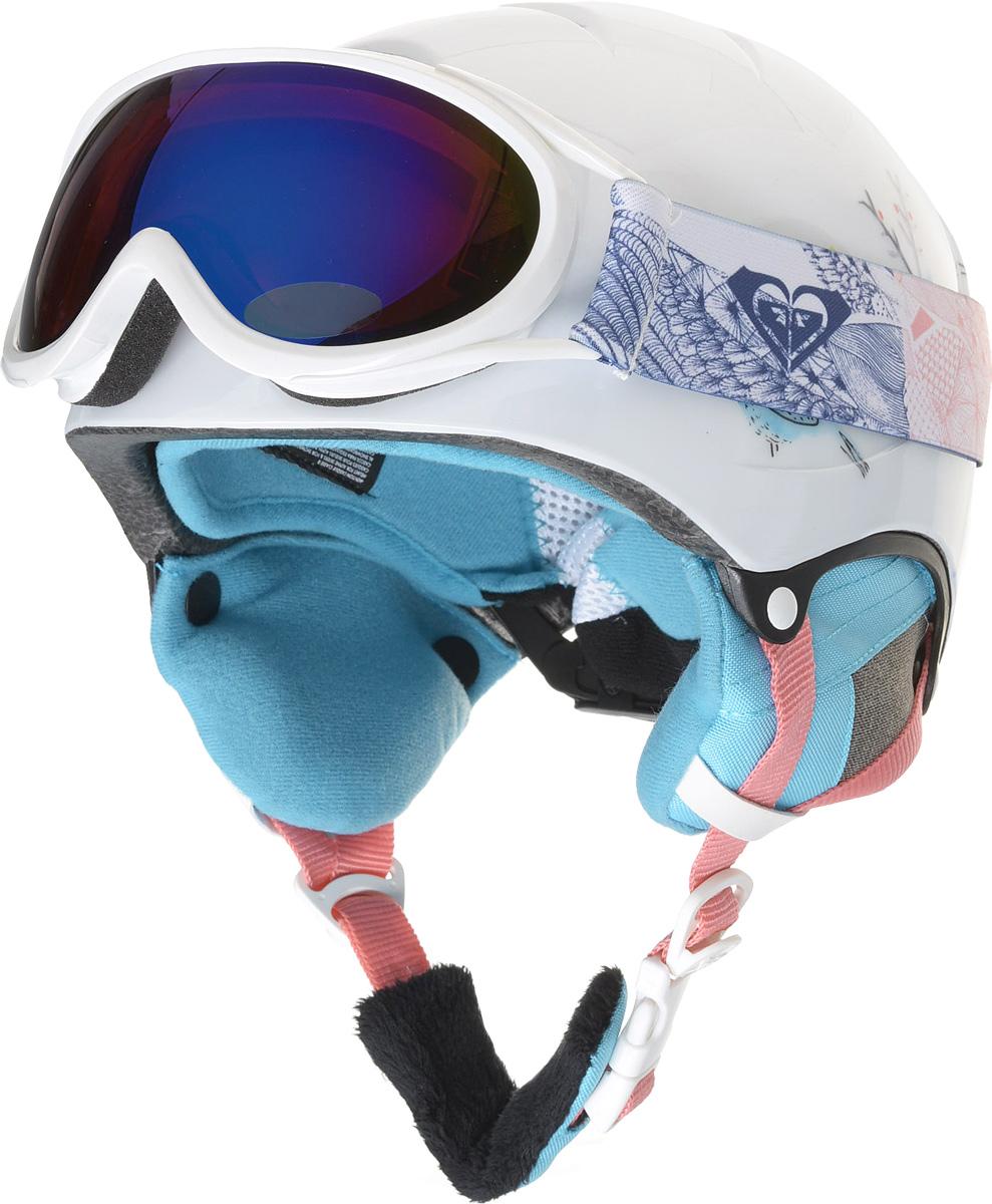 Шлем для горных лыж и сноуборда Roxy MISTY GIRL PCK G HLMT WBB9, цвет: белый. Размер 54