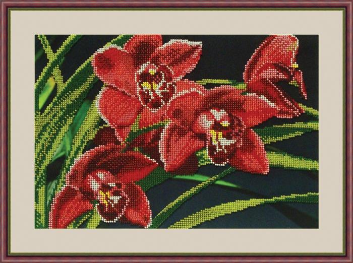 Набор для вышивания Galla Collection Набор для вышивания бисером «Орхидеи», 30х21 см, Л313 все цены