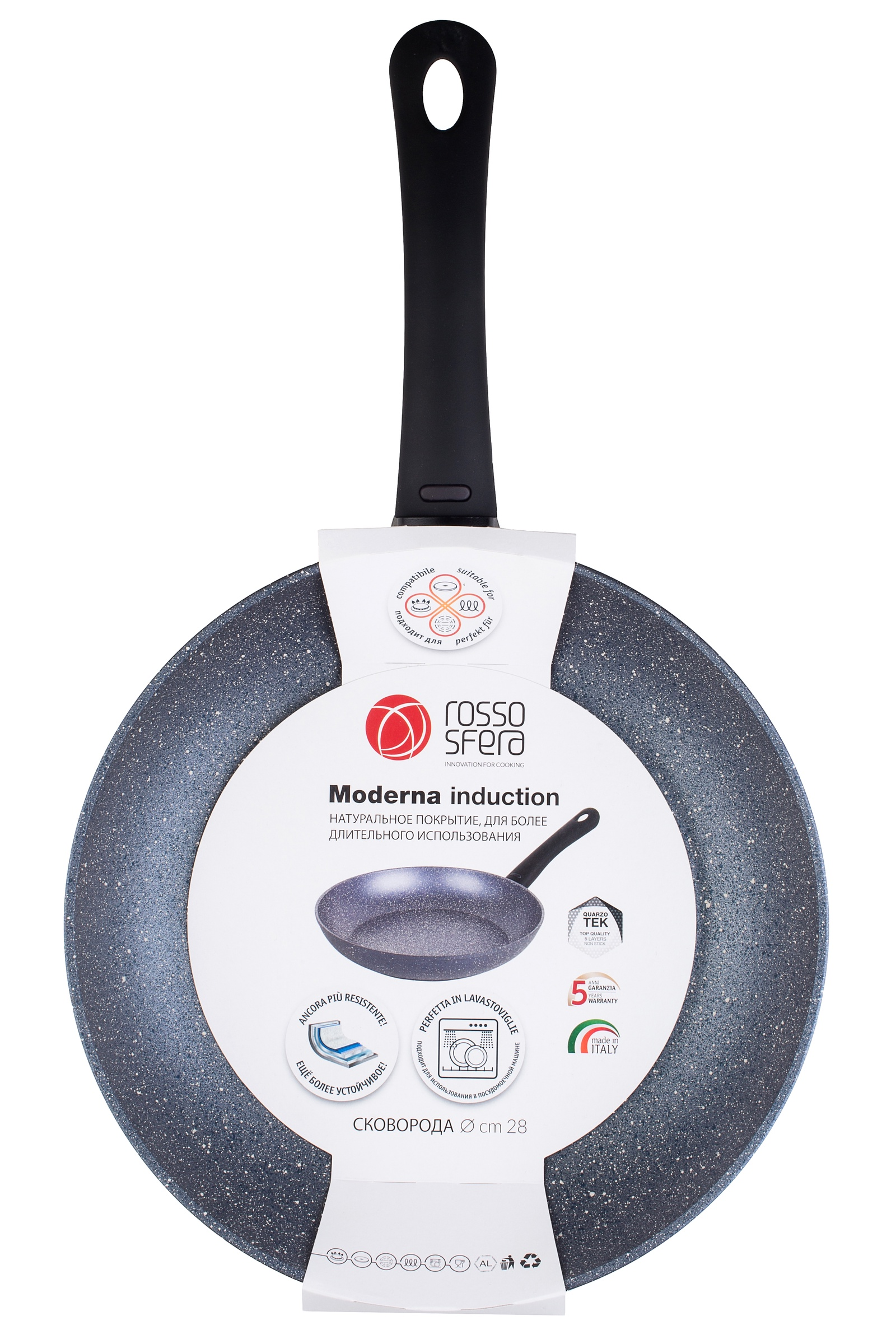 Индукционная сковорода D28 см. Термодатчик.