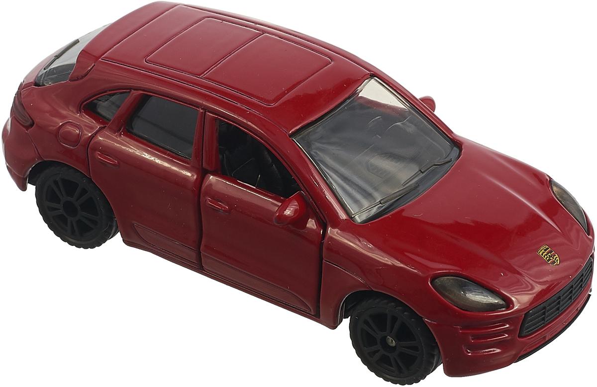 Модель автомобиля Siku Porsche Macan Turbo, 1452, красный модель автомобиля 1 24 motormax porsche 911 turbo cabriolet