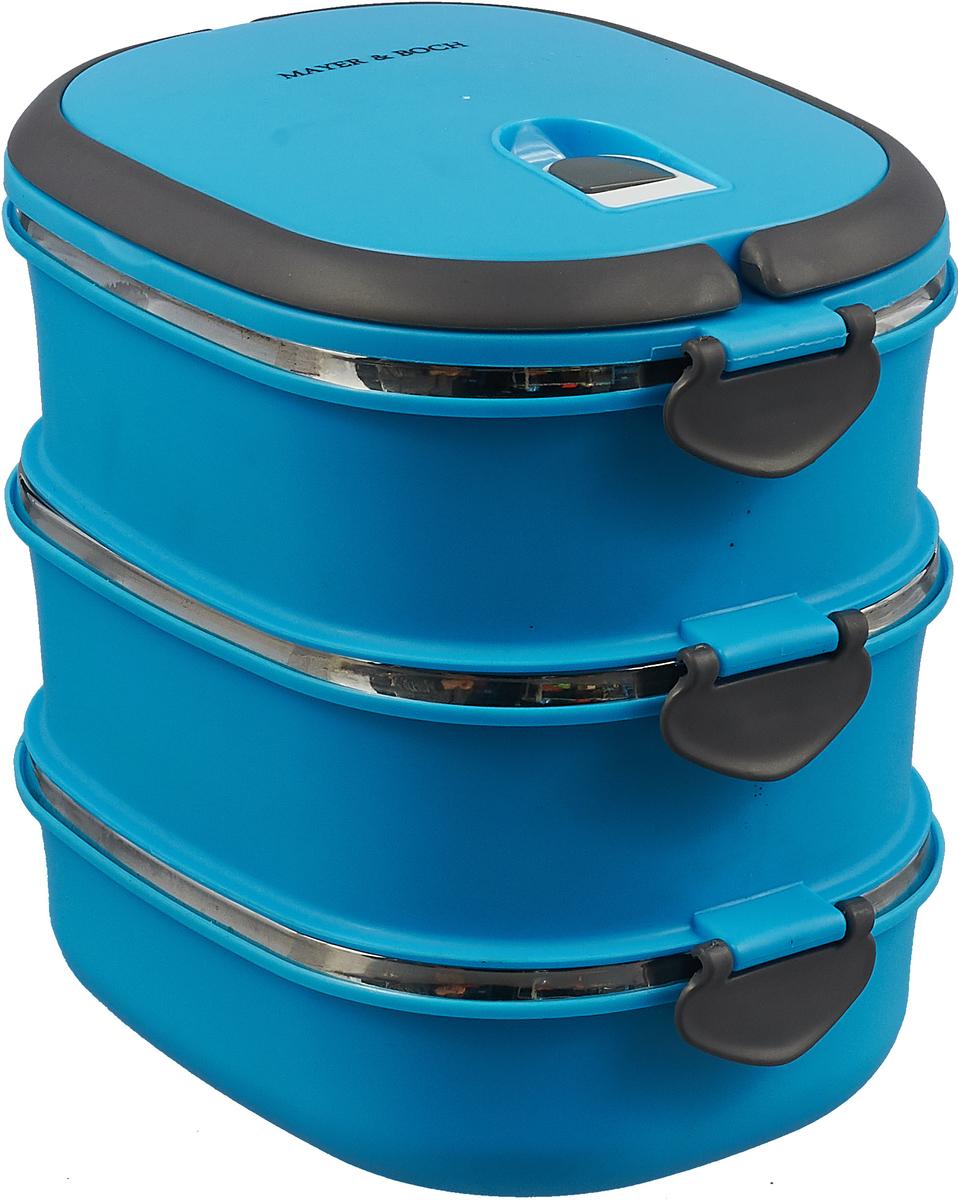 Термос Mayer & Boch, 28783, голубой, 1,8 л термос пищевой mayer